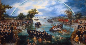 Fishing for souls by Adriaen Pietersz van de Venne