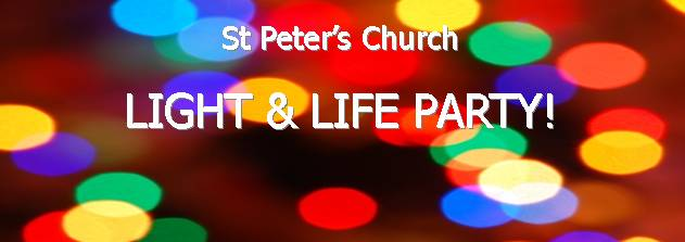 Light and Life Party 31st October. Click for more details